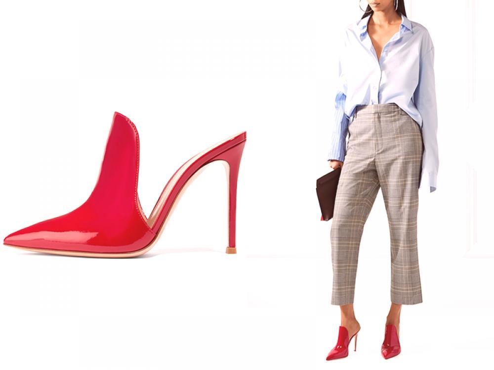 bfea95ce9 Štýlový a výrazný luk, vhodný na kancelárske práce, sa skladá zo sivej farby  - rovných nohavíc s mierne rozšírenými nohavicami, sako s dlhými stehnami a  ...