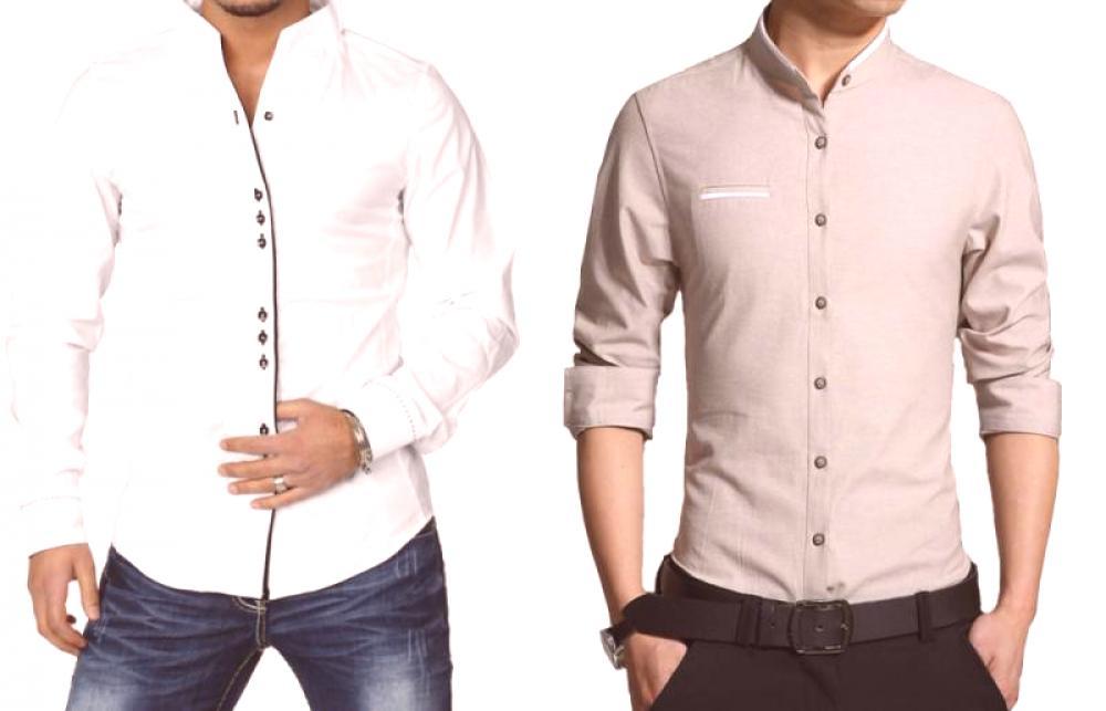 db49daa48cc Модерната мъжка риза със стърчаща яка е привлекателна, елегантна и  оригинална.Това универсално и удобно облекло е подходящо за различни  събития - клубни ...