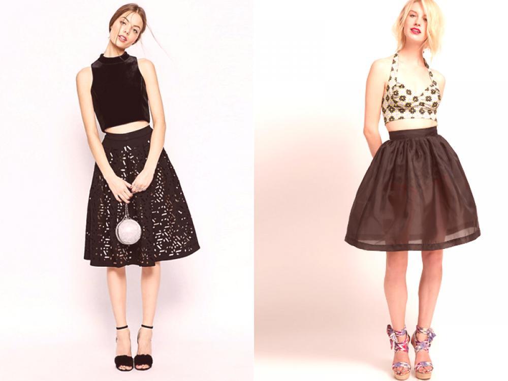 91a87a910 Falda campana negra - actualiza tu vestuario   Moda de Couture.Ru