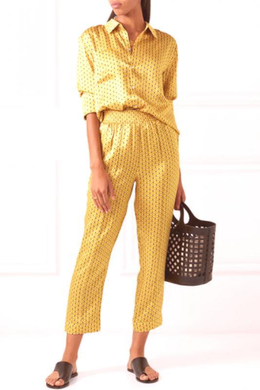 91e0e8b58 Pantalones amarillos (46 fotos): clásicos, cortos, estrechos o ...