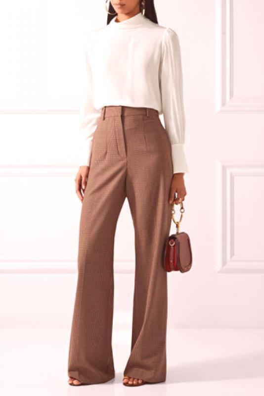 Ženske smeđe hlače (61 fotografija): mršava, klasična, koža, samt | Moda iz  Couture.Ru