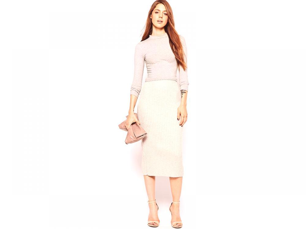 7bcee93c Beżowa spódnica ołówkowa - ucieleśnienie stylu i elegancji | Moda z ...