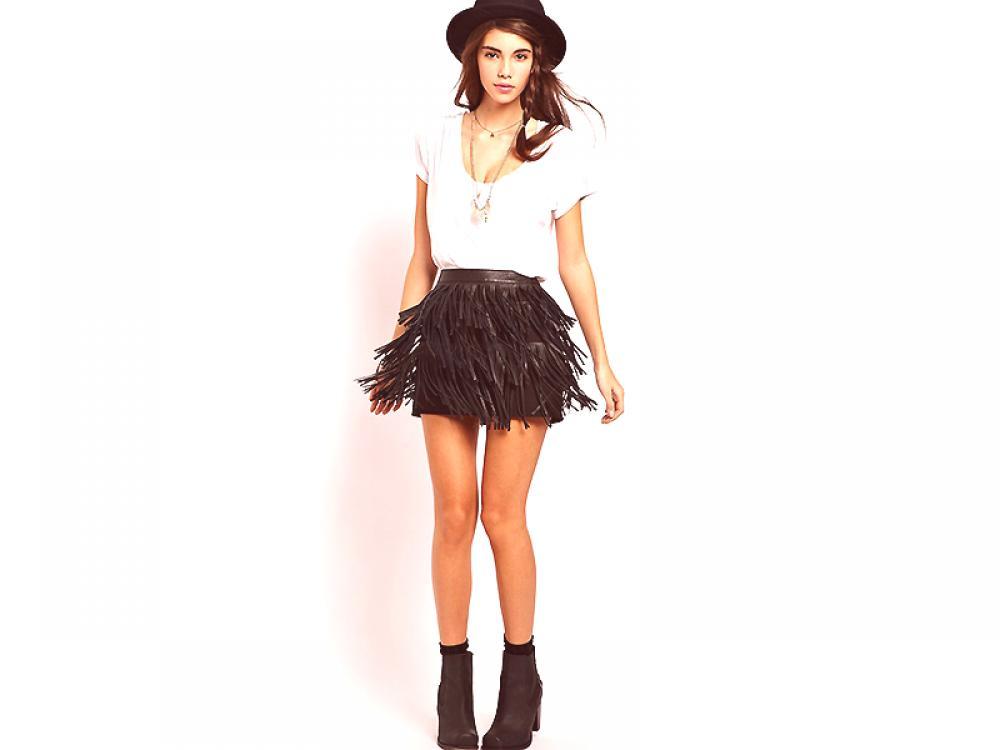 4eb89e61d Falda de cuero con flecos - juguetón, seductor, provocativo. ¿Cuál ...